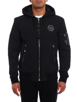 Philipp Plein: bombers online - Uji quilted hooded bomber jacket