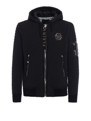 Philipp Plein: bombers - Uji quilted hooded bomber jacket