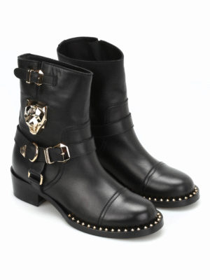 Philipp Plein: boots online - Panthers leather boots