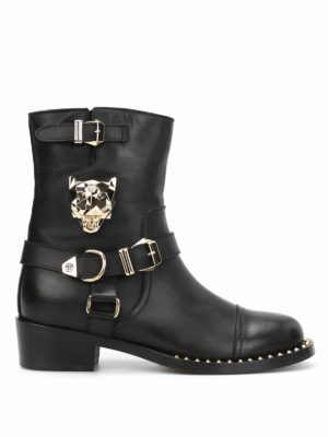 Philipp Plein: boots - Panthers leather boots