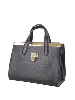 Philipp Plein: bowling bags online - Duchesse M leather bowling bag