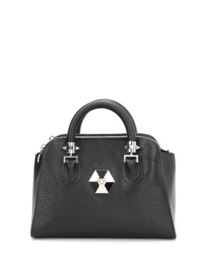 Philipp Plein: bowling bags - Windy leather bowling bag