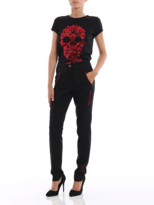 Philipp Plein: casual trousers online - Eustace crepe tapered trousers