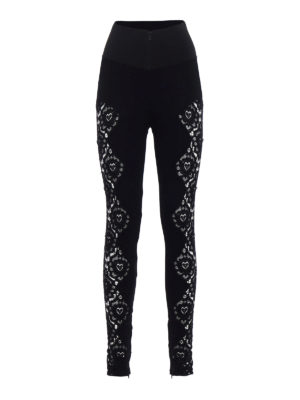 Philipp Plein: casual trousers - Portio jersey and lace trousers