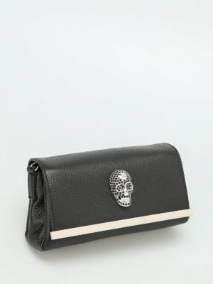 Philipp Plein: clutches online - Beauty leather clutch