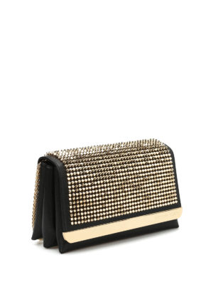 Philipp Plein: clutches online - She studded leather maxi clutch