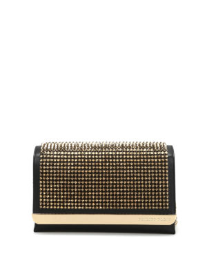 Philipp Plein: clutches - She studded leather maxi clutch
