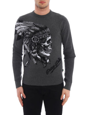 Philipp Plein: crew necks online - Visible embroidered crewneck