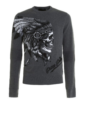 Philipp Plein: crew necks - Visible embroidered crewneck