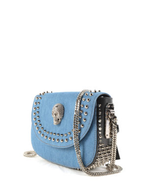 Philipp Plein: cross body bags online - Colorado denim cross body bag