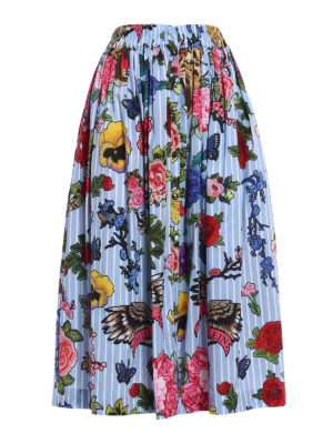 Philipp Plein: Knee length skirts & Midi - Kaylima printed poplin cotton skirt