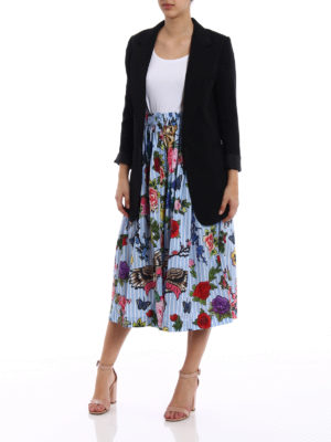 Philipp Plein: Knee length skirts & Midi online - Kaylima printed poplin cotton skirt