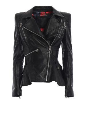 PHILIPP PLEIN: giacche in pelle - Giacca Ailena in morbida nappa