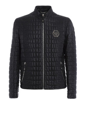 Philipp Plein: leather jacket - Cocco Feel leather jacket