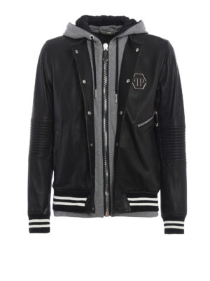 Philipp Plein: leather jacket - East leather jacket
