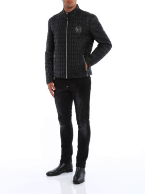 Philipp Plein: leather jacket online - Cocco Feel leather jacket