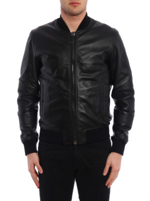 Philipp Plein: leather jacket online - Grenade leather bomber