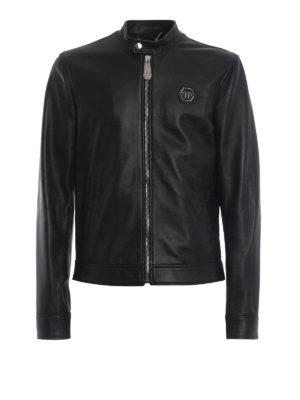 PHILIPP PLEIN: giacche in pelle - Chiodo in nappa nera Original