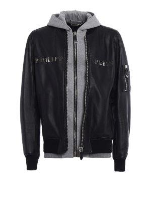 Philipp Plein: leather jacket - Urban double front leather jacket