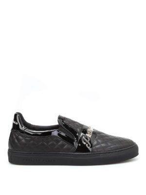 Philipp Plein: Loafers & Slippers - Fort smith quilted leather slip-ons