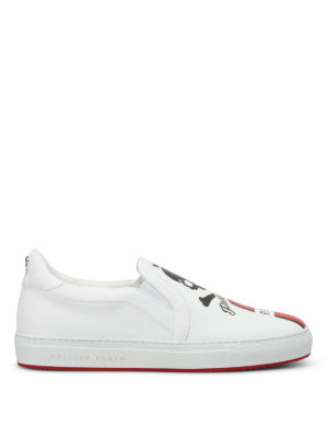 Philipp Plein: Loafers & Slippers - Maywood logo leather slip-ons