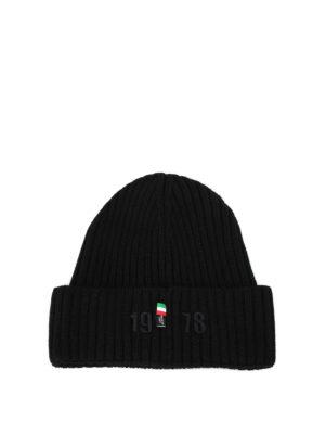 PHILIPP PLEIN: berretti online - Berretto in lana nera Alcan