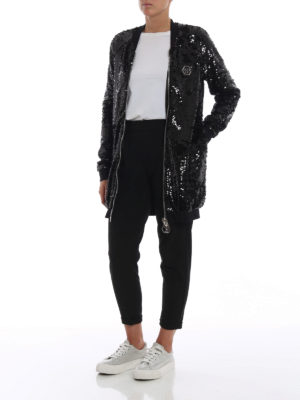 PHILIPP PLEIN: giacche bomber online - Bomber Firefly in paillettes