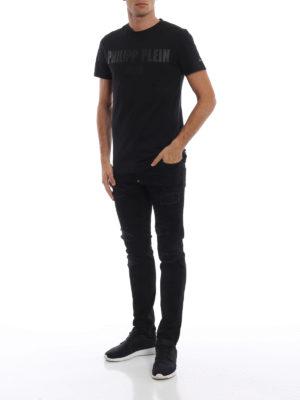 a sigaretta - Jeans motivo Camou con taglio super straight