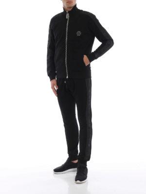 PHILIPP PLEIN: Felpe e maglie online - Felpa Black Band con zip in cotone decorato