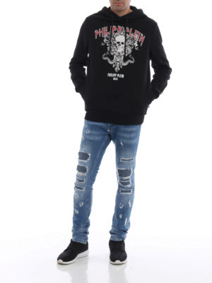 PHILIPP PLEIN: Felpe e maglie online - Felpa Times nera