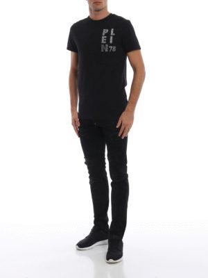 PHILIPP PLEIN: t-shirt online - T-shirt con stampe e ricami All On