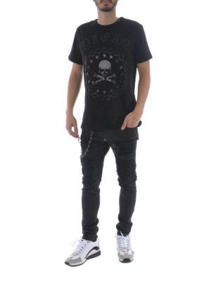 PHILIPP PLEIN: t-shirt online - T-shirt Bullet con strass