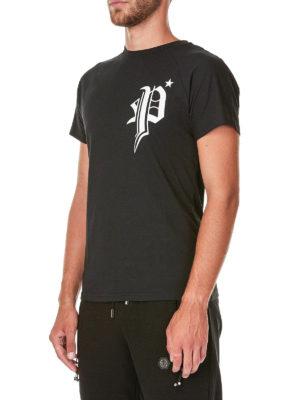 PHILIPP PLEIN: t-shirt online - T-shirt in cotone Changes con maxi stampa