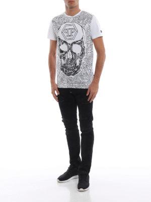 PHILIPP PLEIN: t-shirt online - T-shirt Dope con decorazioni all-over