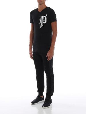 PHILIPP PLEIN: t-shirt online - T-shirt nera Gods Black Cut