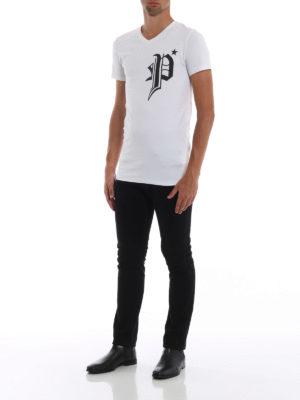 PHILIPP PLEIN: t-shirt online - T-shirt Gods bianca con stampe gommate