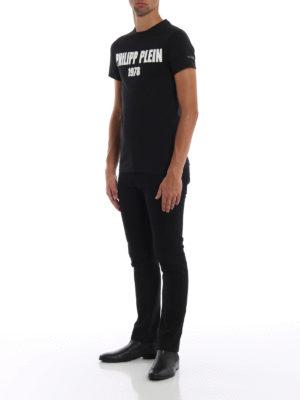 PHILIPP PLEIN: t-shirt online - T-shirt My Mind con logo in gomma