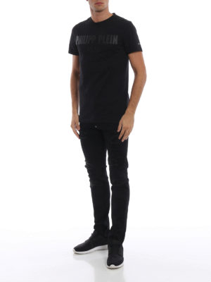 PHILIPP PLEIN: t-shirt online - T-shirt con logo gommato My Mind