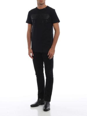 PHILIPP PLEIN: t-shirt online - T-shirt nera Platinum Cut Alone