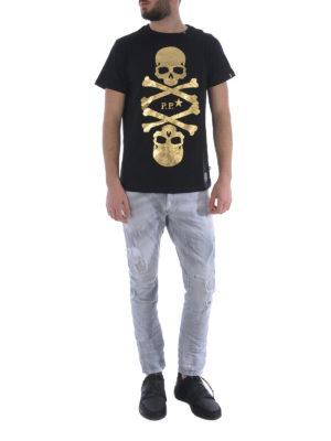 PHILIPP PLEIN: t-shirt online - T-shirt Skulls nera