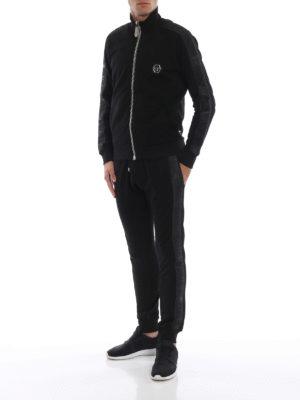 PHILIPP PLEIN: pantaloni sport online - Pantaloni della tuta in cotone Black Bands