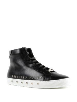 PHILIPP PLEIN: sneakers online - Sneaker alte nere Good Time in pelle