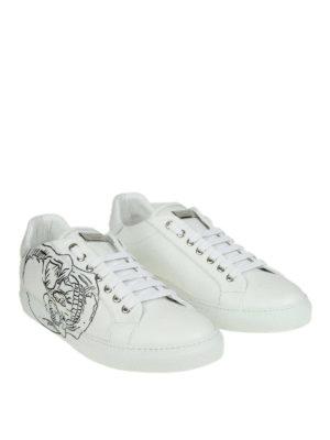 PHILIPP PLEIN: sneakers online - Sneaker Lo-top Skull in pelle bianca