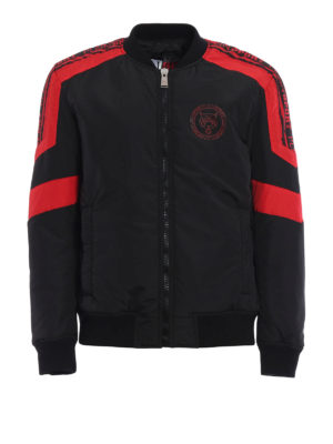Philipp Plein: padded jackets - Ocean padded nylon bomber jacket