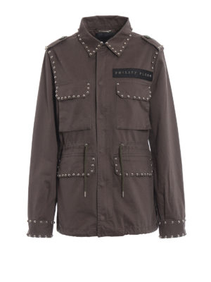 Philipp Plein: parkas - Similarity cotton parka