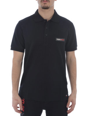 Philipp Plein: polo shirts online - Ezzard cotton pique polo