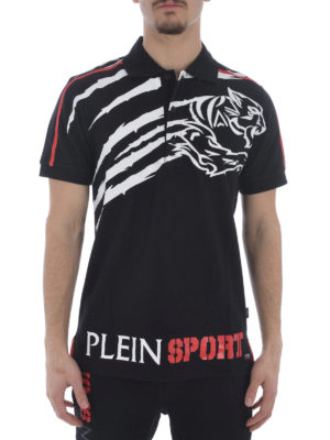 Philipp Plein: polo shirts online - Lee cotton pique polo