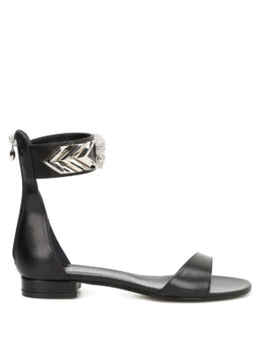 Philipp Plein: sandals - Moulins leather sandals