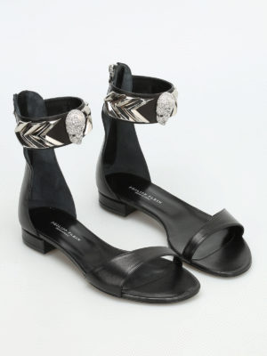 Philipp Plein: sandals online - Moulins leather sandals