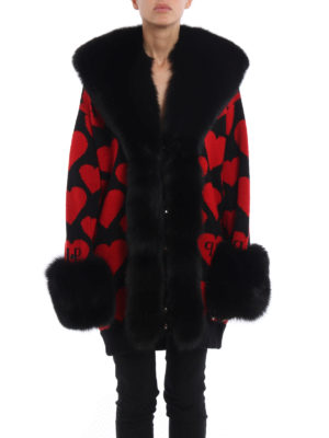 Philipp Plein: short coats online - Horned Adder fur detail coat